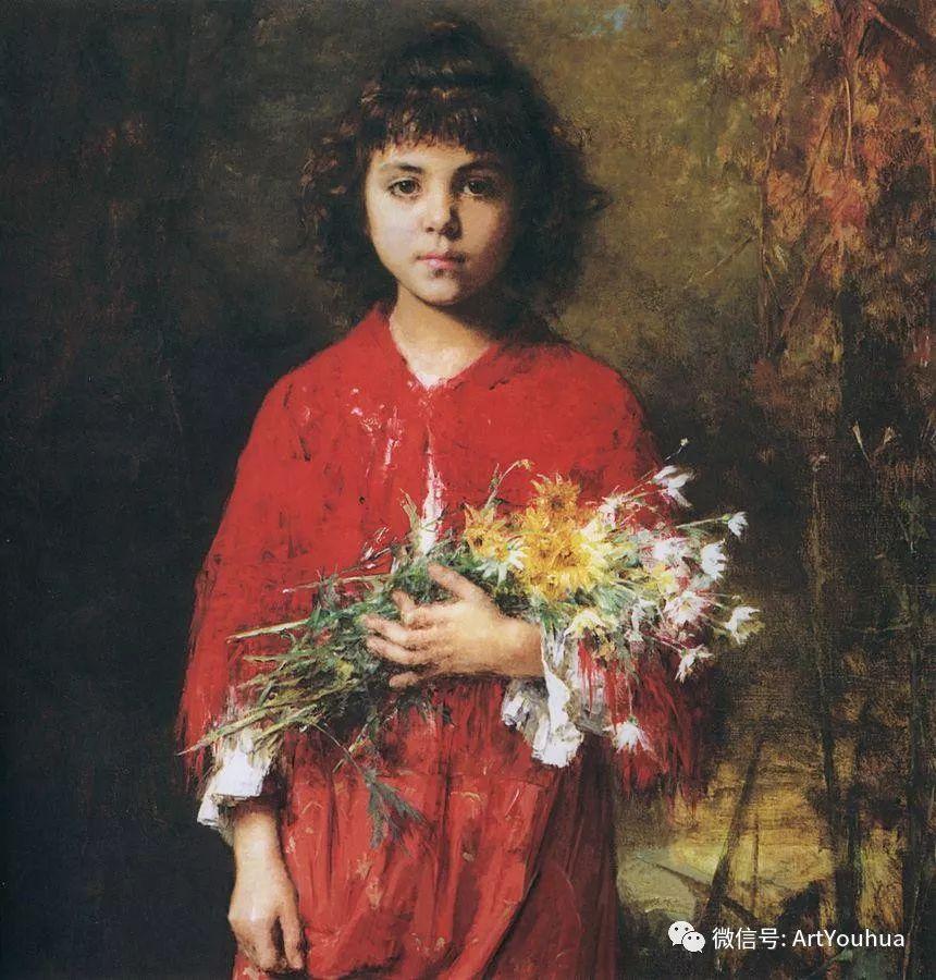 纯真少女与鲜花 美好生命的象征插图1
