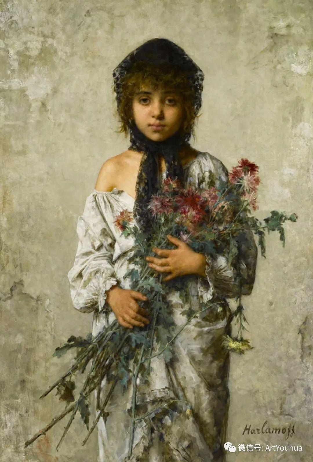 纯真少女与鲜花 美好生命的象征插图17