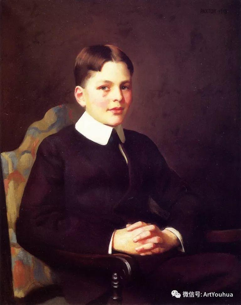 他直到他人生最后一刻还拿着画笔 曾为两位美国总统画过肖像插图123
