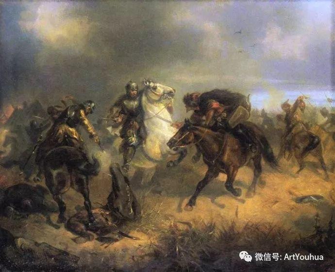 以画战斗作品而闻名 波兰画家Maksymilian Gierymski插图13