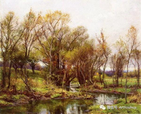 风景画 美国画家Hugh Bolton Jones(1848-1927)插图1