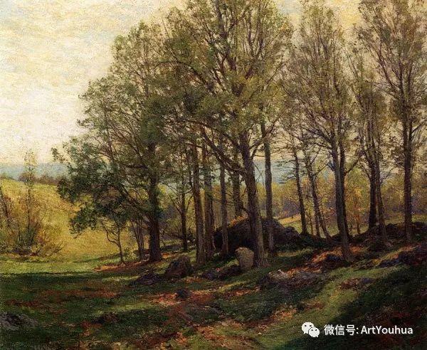 风景画 美国画家Hugh Bolton Jones(1848-1927)插图5