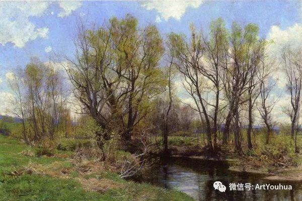 风景画 美国画家Hugh Bolton Jones(1848-1927)插图7