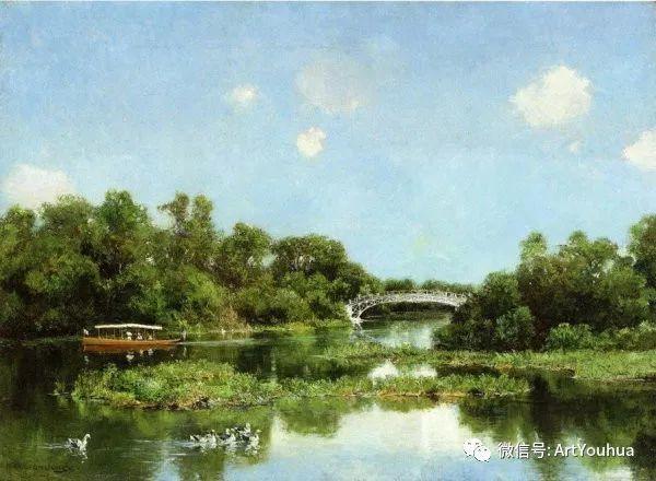 风景画 美国画家Hugh Bolton Jones(1848-1927)插图11