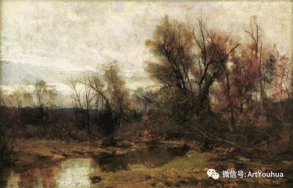 风景画 美国画家Hugh Bolton Jones(1848-1927)插图15