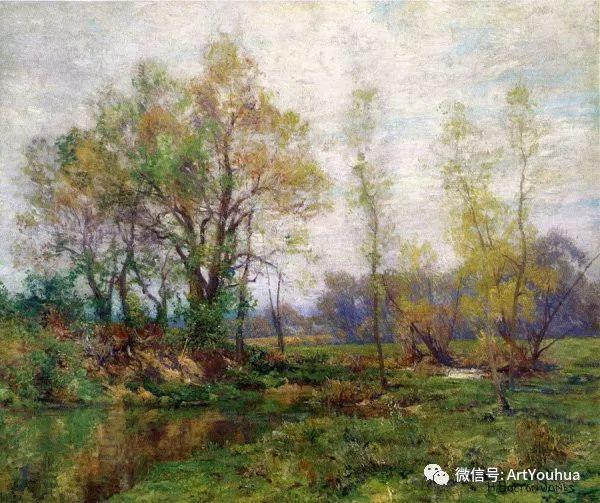 风景画 美国画家Hugh Bolton Jones(1848-1927)插图17