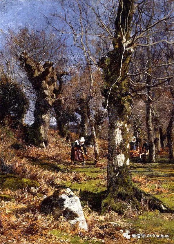 风景画 美国画家Hugh Bolton Jones(1848-1927)插图19