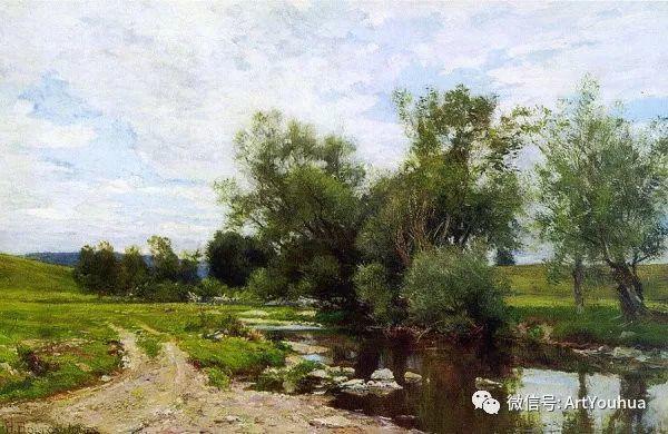 风景画 美国画家Hugh Bolton Jones(1848-1927)插图23