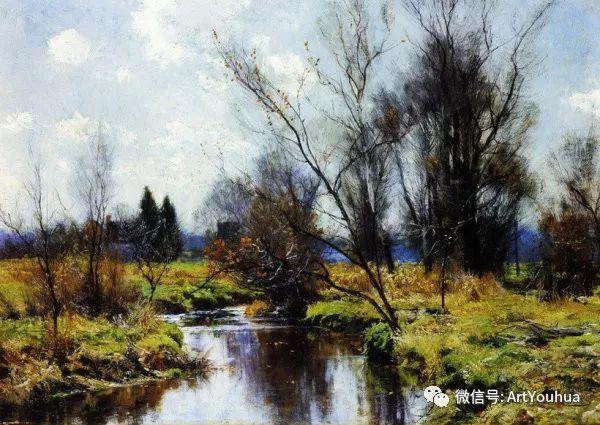 风景画 美国画家Hugh Bolton Jones(1848-1927)插图25