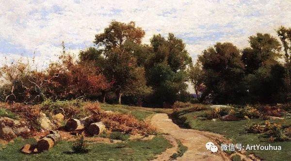 风景画 美国画家Hugh Bolton Jones(1848-1927)插图27