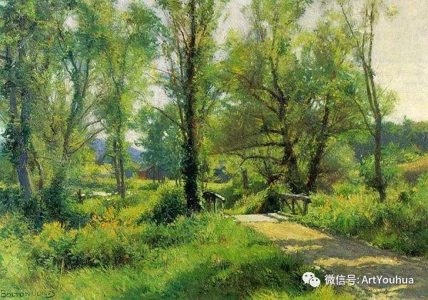 风景画 美国画家Hugh Bolton Jones(1848-1927)插图29