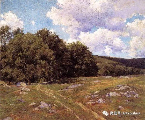 风景画 美国画家Hugh Bolton Jones(1848-1927)插图31