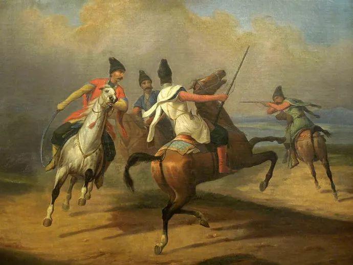 军事题材作品 波兰画家苏霍多尔斯基(1797-1875)插图19
