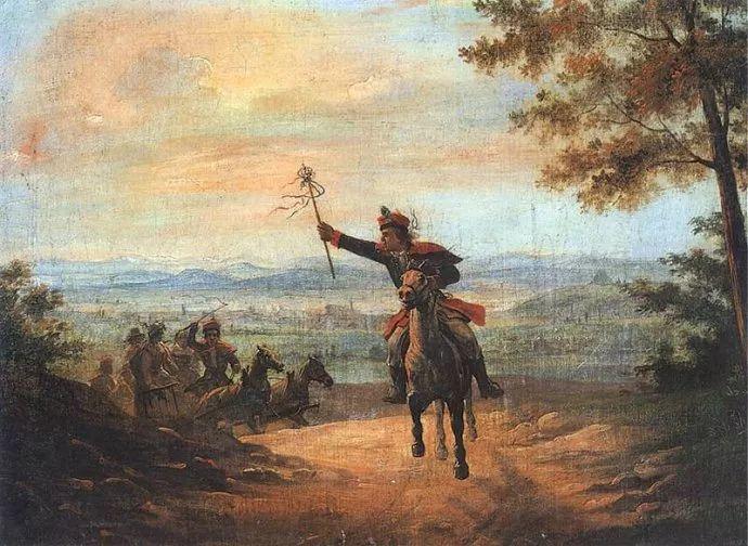 军事题材作品 波兰画家苏霍多尔斯基(1797-1875)插图21