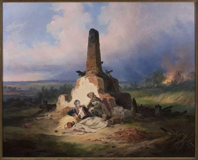 军事题材作品 波兰画家苏霍多尔斯基(1797-1875)插图45