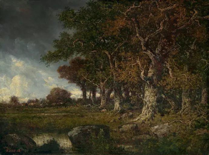 善于表现森林景观 法国巴比松画派迪亚兹(1808-1876)插图15