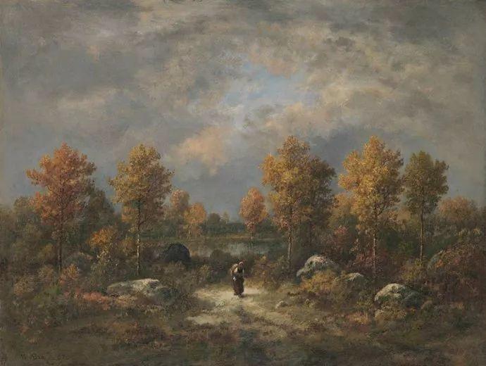 善于表现森林景观 法国巴比松画派迪亚兹(1808-1876)插图27