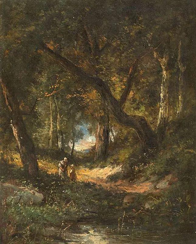 善于表现森林景观 法国巴比松画派迪亚兹(1808-1876)插图35