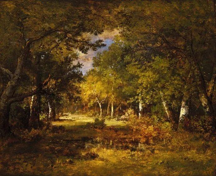 善于表现森林景观 法国巴比松画派迪亚兹(1808-1876)插图43