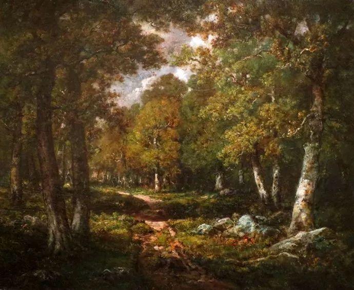 善于表现森林景观 法国巴比松画派迪亚兹(1808-1876)插图47