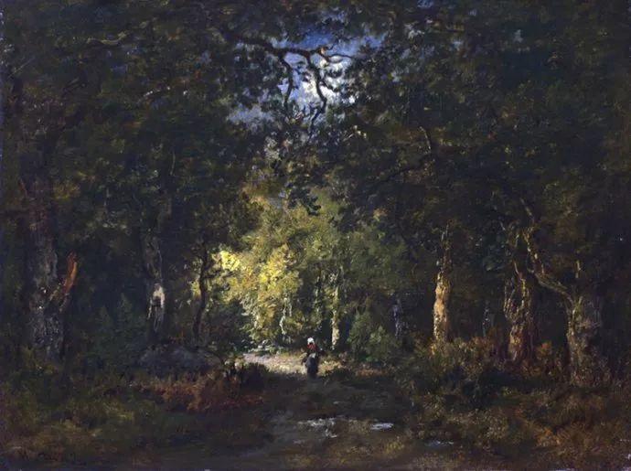 善于表现森林景观 法国巴比松画派迪亚兹(1808-1876)插图49