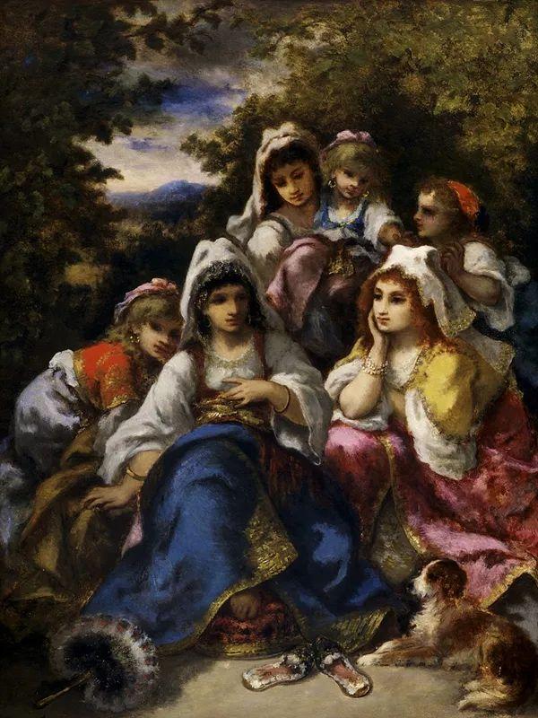 善于表现森林景观 法国巴比松画派迪亚兹(1808-1876)插图59