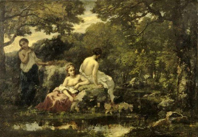 善于表现森林景观 法国巴比松画派迪亚兹(1808-1876)插图65