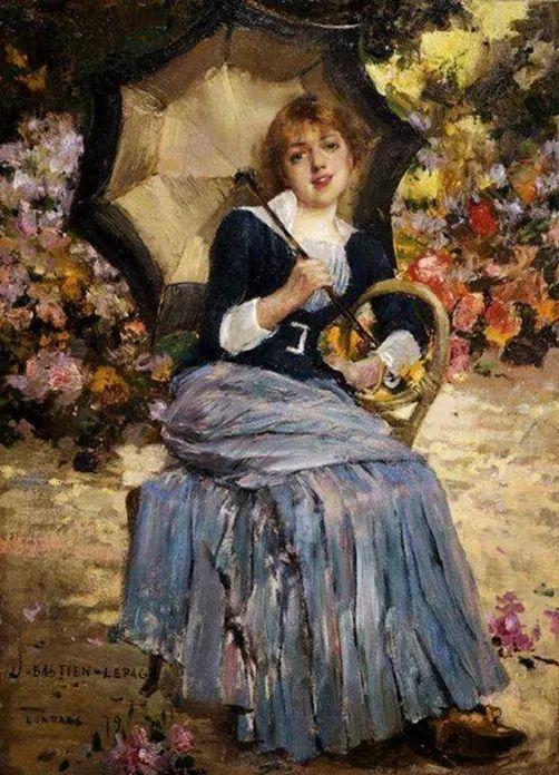 可称为米勒的后继者 法国画家勒帕热(1848-1884)插图51