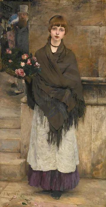 可称为米勒的后继者 法国画家勒帕热(1848-1884)插图65
