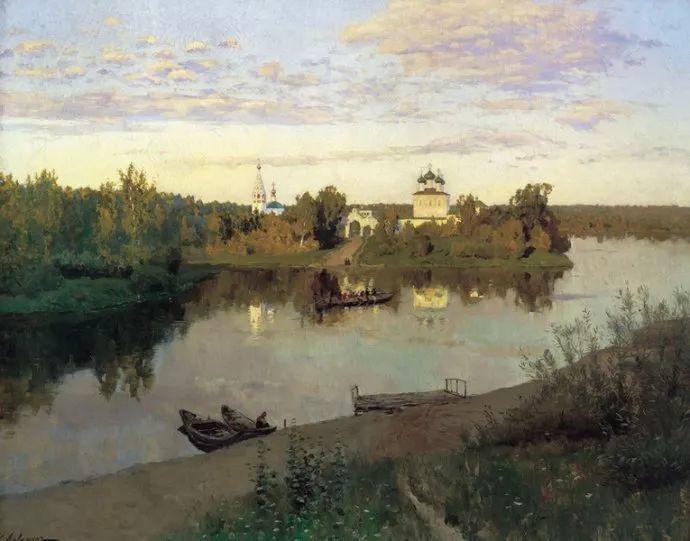 """""""情绪风景""""画家 俄罗斯列维坦(1860-1900)插图"""