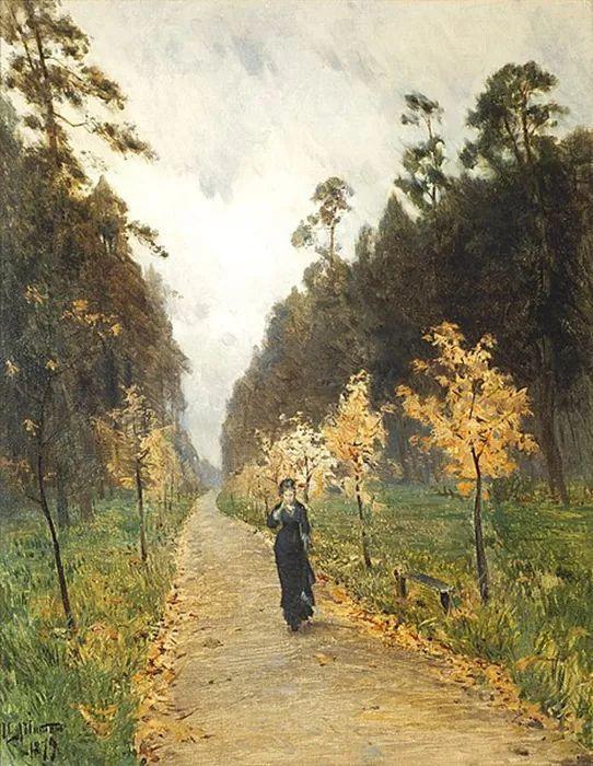 """""""情绪风景""""画家 俄罗斯列维坦(1860-1900)插图1"""