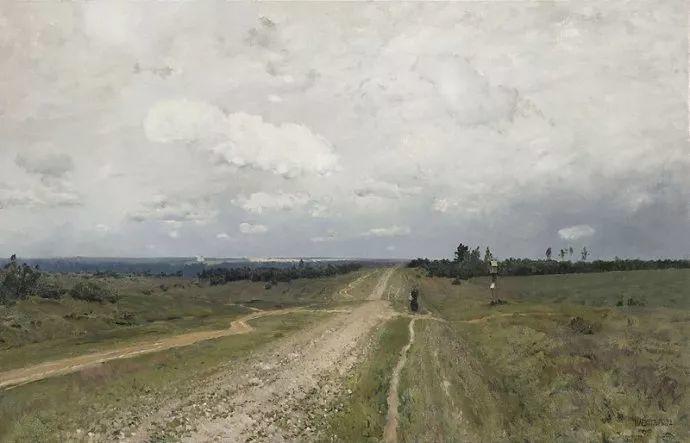 """""""情绪风景""""画家 俄罗斯列维坦(1860-1900)插图2"""