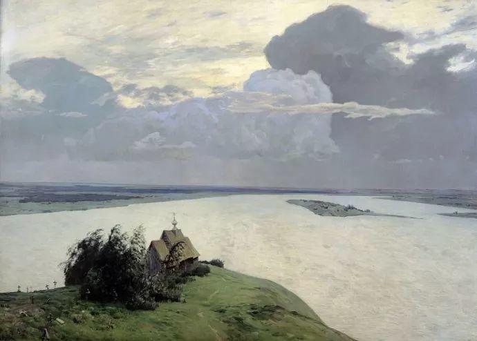 """""""情绪风景""""画家 俄罗斯列维坦(1860-1900)插图3"""