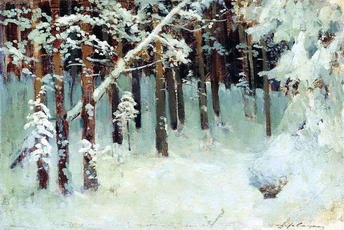 """""""情绪风景""""画家 俄罗斯列维坦(1860-1900)插图7"""