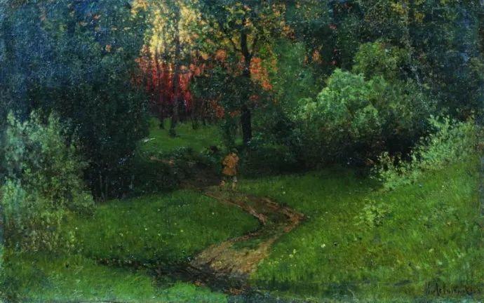 """""""情绪风景""""画家 俄罗斯列维坦(1860-1900)插图8"""