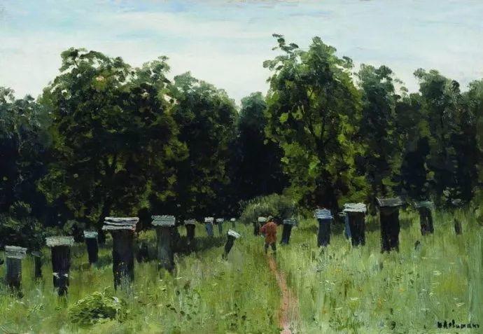 """""""情绪风景""""画家 俄罗斯列维坦(1860-1900)插图10"""
