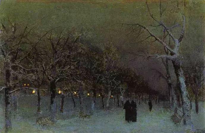 """""""情绪风景""""画家 俄罗斯列维坦(1860-1900)插图15"""