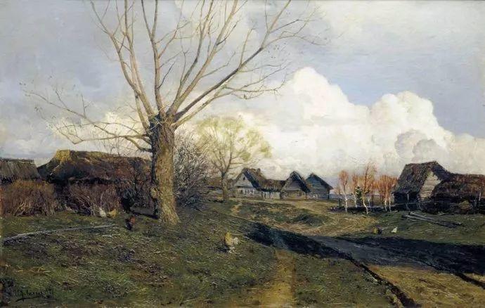 """""""情绪风景""""画家 俄罗斯列维坦(1860-1900)插图21"""
