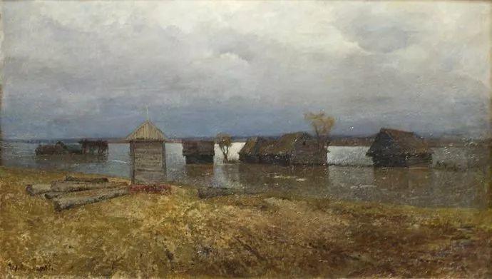 """""""情绪风景""""画家 俄罗斯列维坦(1860-1900)插图22"""