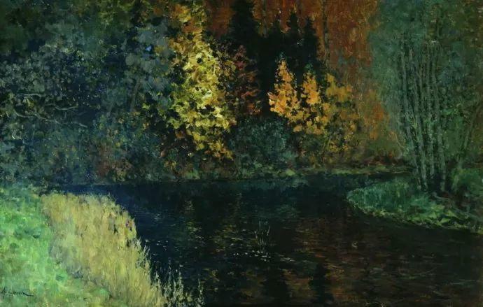 """""""情绪风景""""画家 俄罗斯列维坦(1860-1900)插图24"""