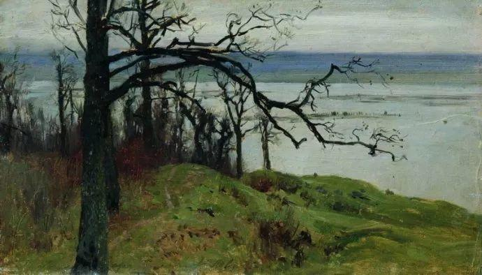 """""""情绪风景""""画家 俄罗斯列维坦(1860-1900)插图25"""