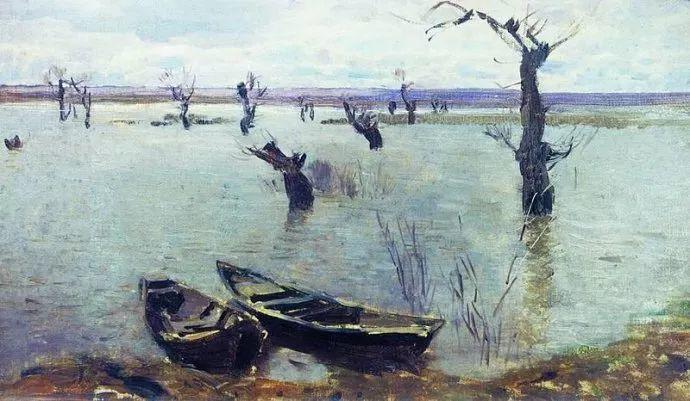 """""""情绪风景""""画家 俄罗斯列维坦(1860-1900)插图26"""
