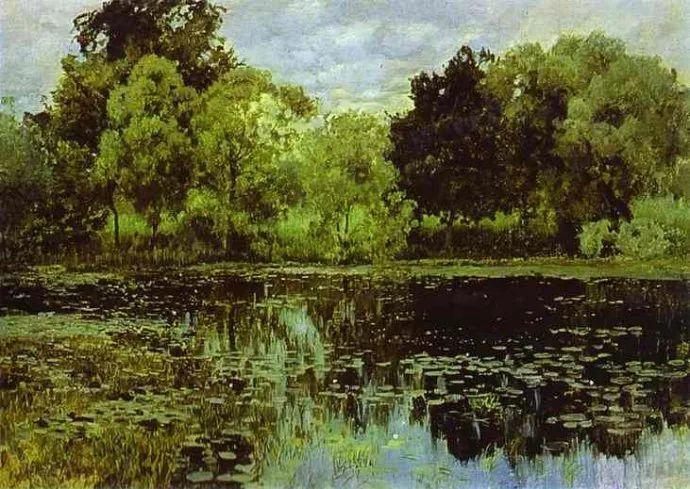 """""""情绪风景""""画家 俄罗斯列维坦(1860-1900)插图29"""