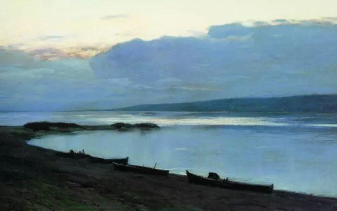 """""""情绪风景""""画家 俄罗斯列维坦(1860-1900)插图30"""