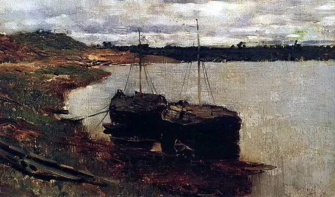 """""""情绪风景""""画家 俄罗斯列维坦(1860-1900)插图31"""