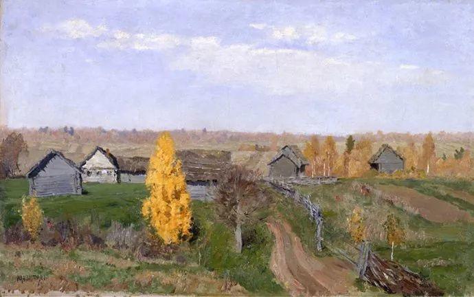 """""""情绪风景""""画家 俄罗斯列维坦(1860-1900)插图33"""