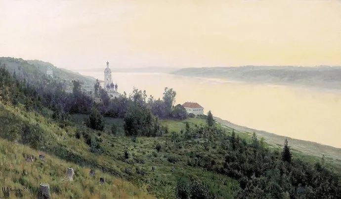 """""""情绪风景""""画家 俄罗斯列维坦(1860-1900)插图34"""