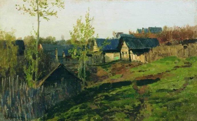 """""""情绪风景""""画家 俄罗斯列维坦(1860-1900)插图35"""