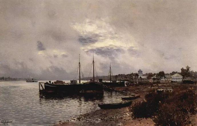 """""""情绪风景""""画家 俄罗斯列维坦(1860-1900)插图36"""