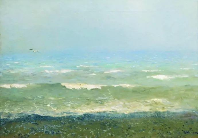"""""""情绪风景""""画家 俄罗斯列维坦(1860-1900)插图38"""